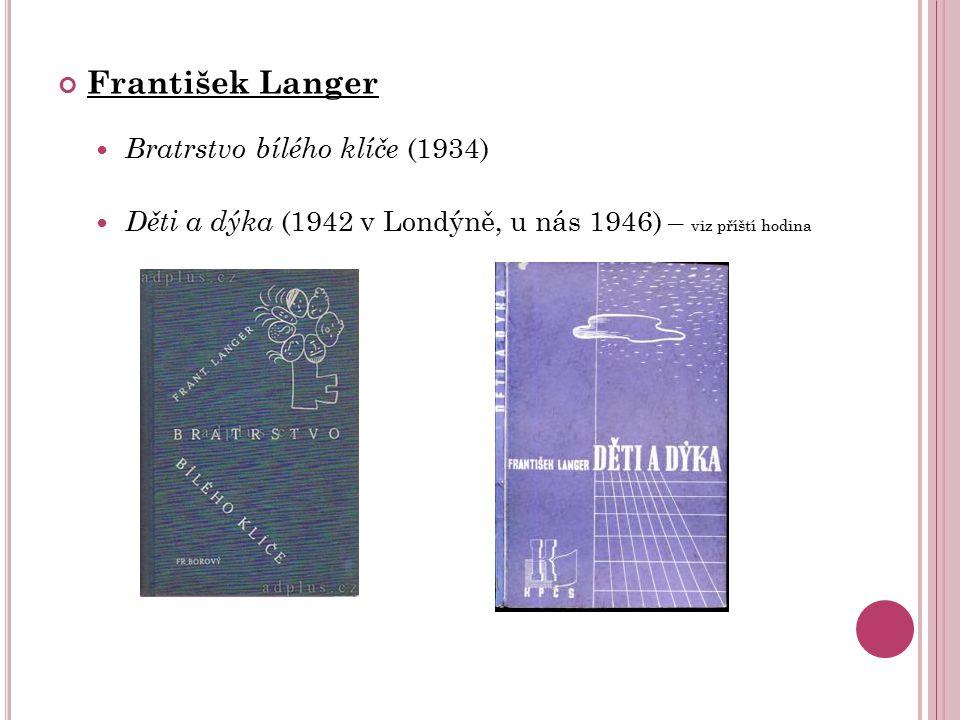 František Langer Bratrstvo bílého klíče (1934)