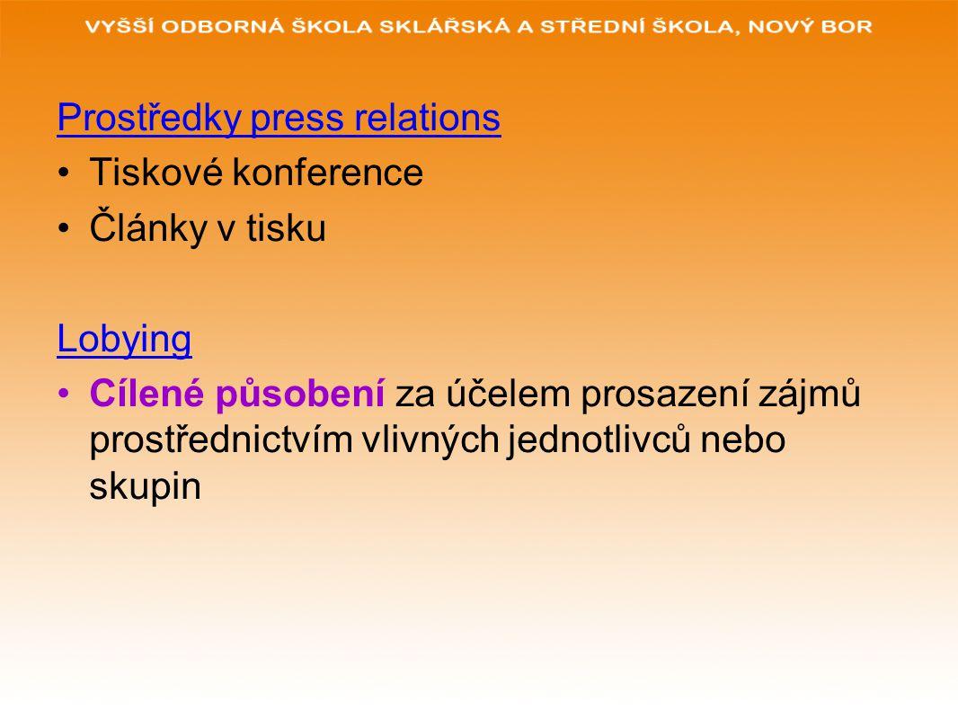 Prostředky press relations