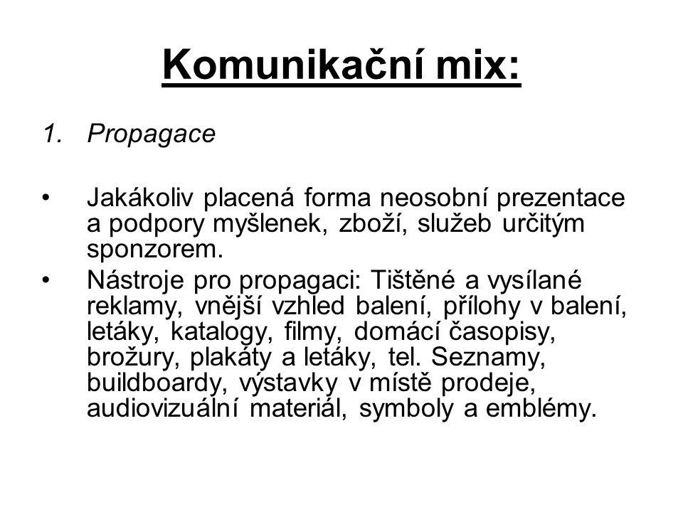 Komunikační mix: Propagace