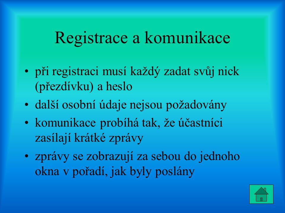 Registrace a komunikace