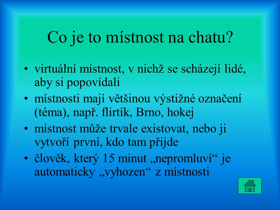 Co je to místnost na chatu