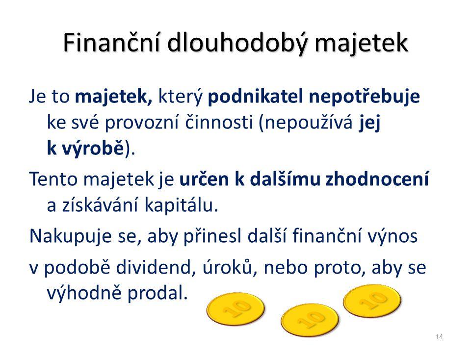 Finanční dlouhodobý majetek