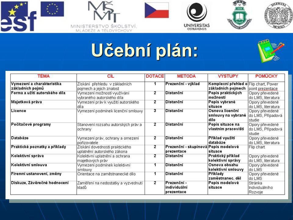 Učební plán: