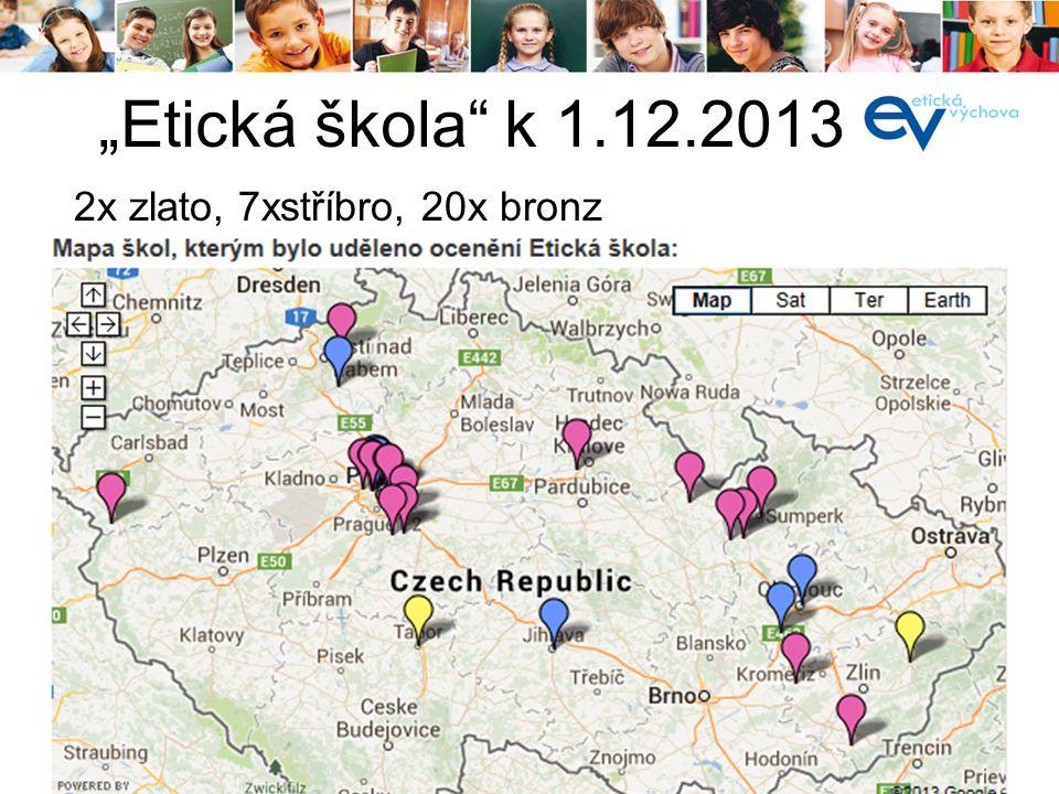 """""""Etická škola k 1.12.2013 í2x zlato, 7xstříbro, 20x bronz"""