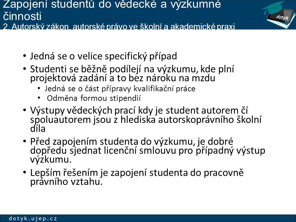 Zapojení studentů do vědecké a výzkumné činnosti 2