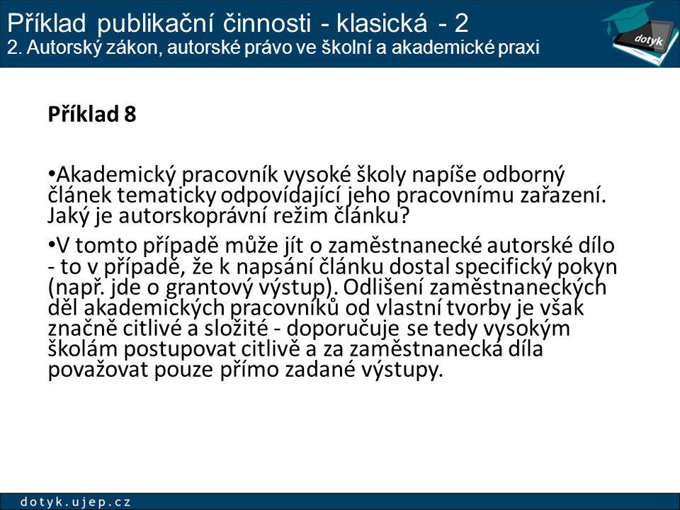 Příklad publikační činnosti - klasická - 2 2