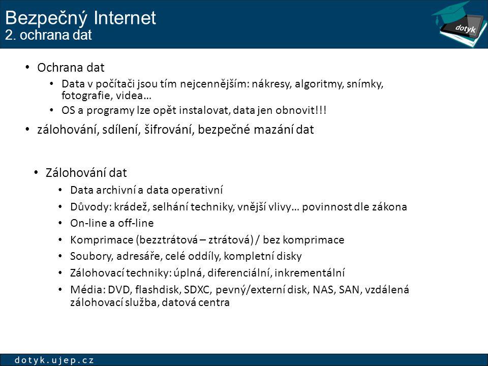 Bezpečný Internet 2. ochrana dat