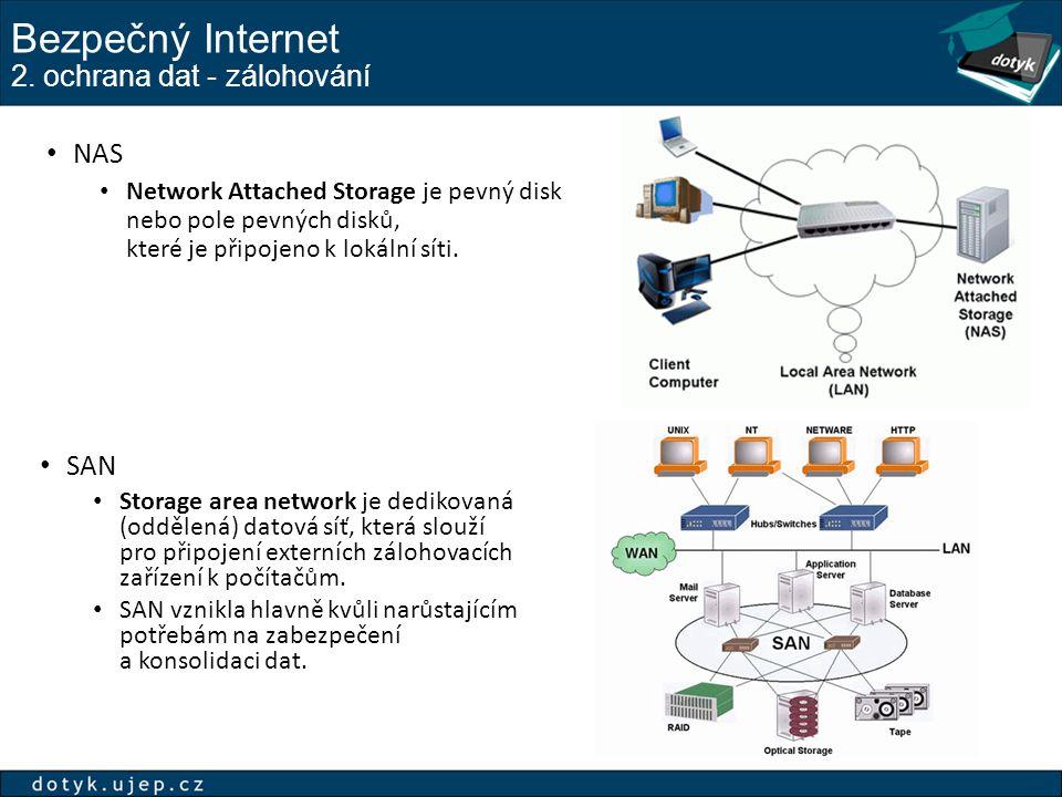 Bezpečný Internet 2. ochrana dat - zálohování