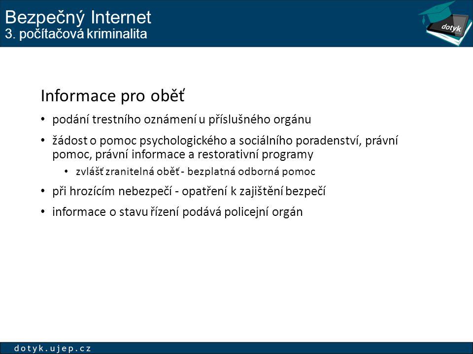 Bezpečný Internet 3. počítačová kriminalita