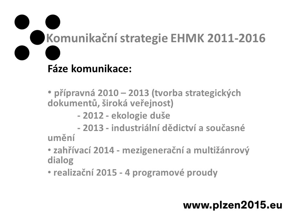 Komunikační strategie EHMK 2011-2016