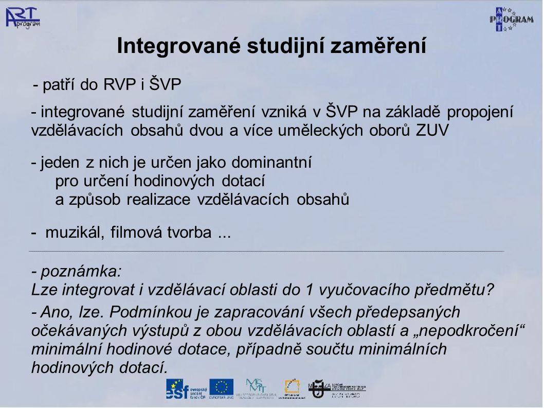 Integrované studijní zaměření