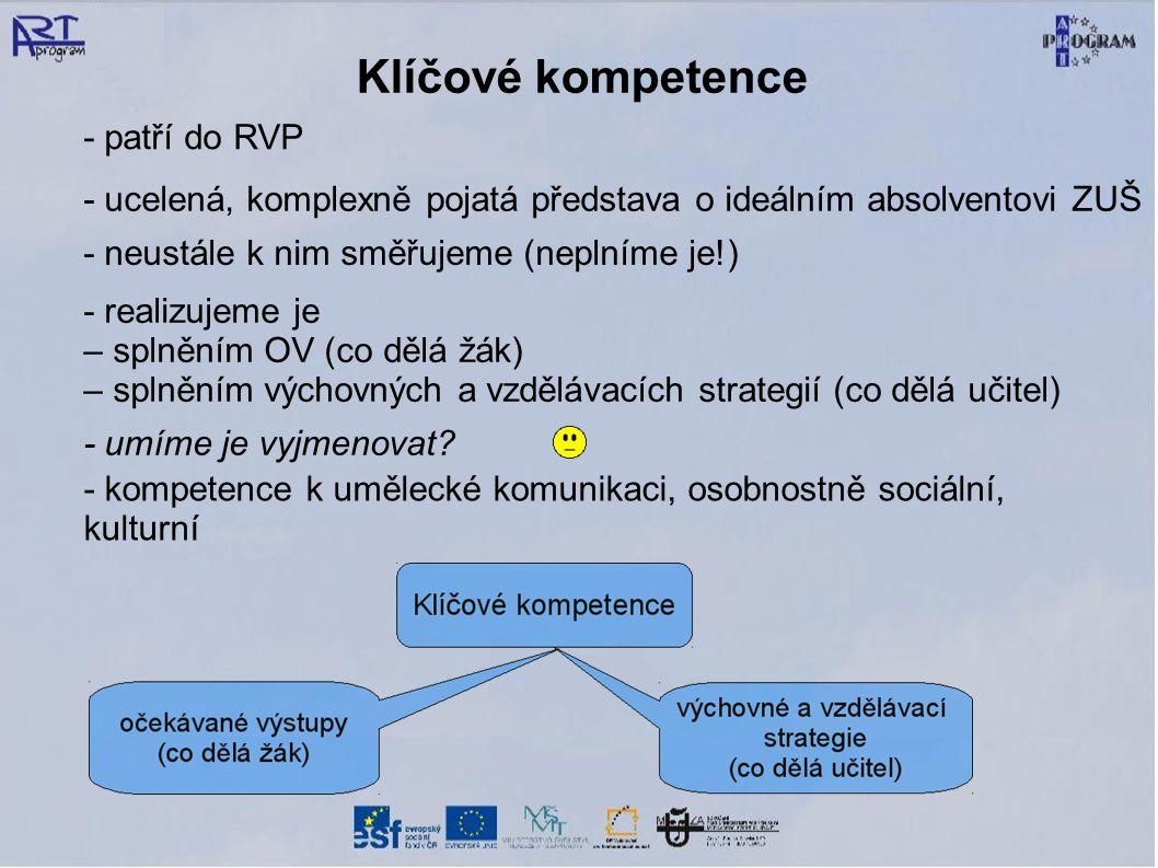 Klíčové kompetence - patří do RVP