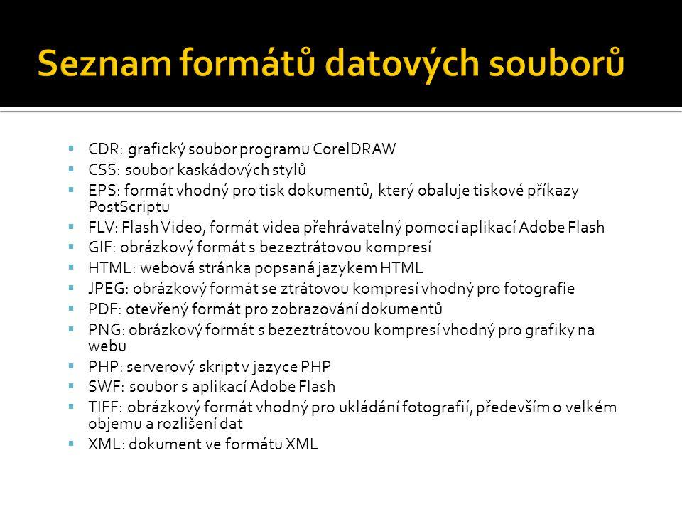 Seznam formátů datových souborů