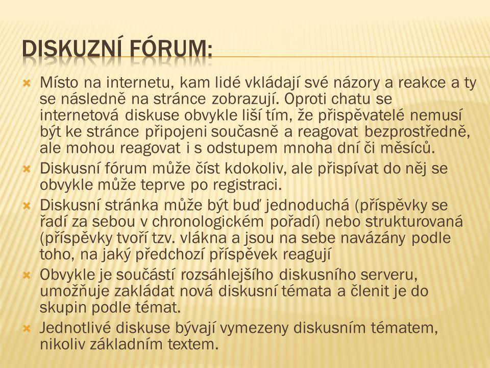 Diskuzní fórum:
