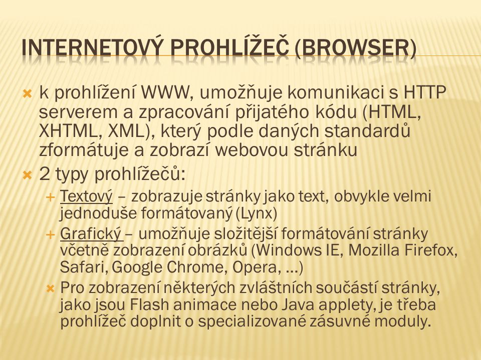 Internetový prohlížeč (browser)
