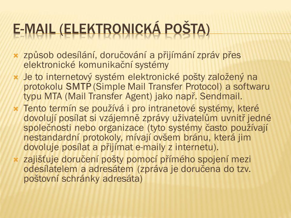 E-mail (elektronická pošta)