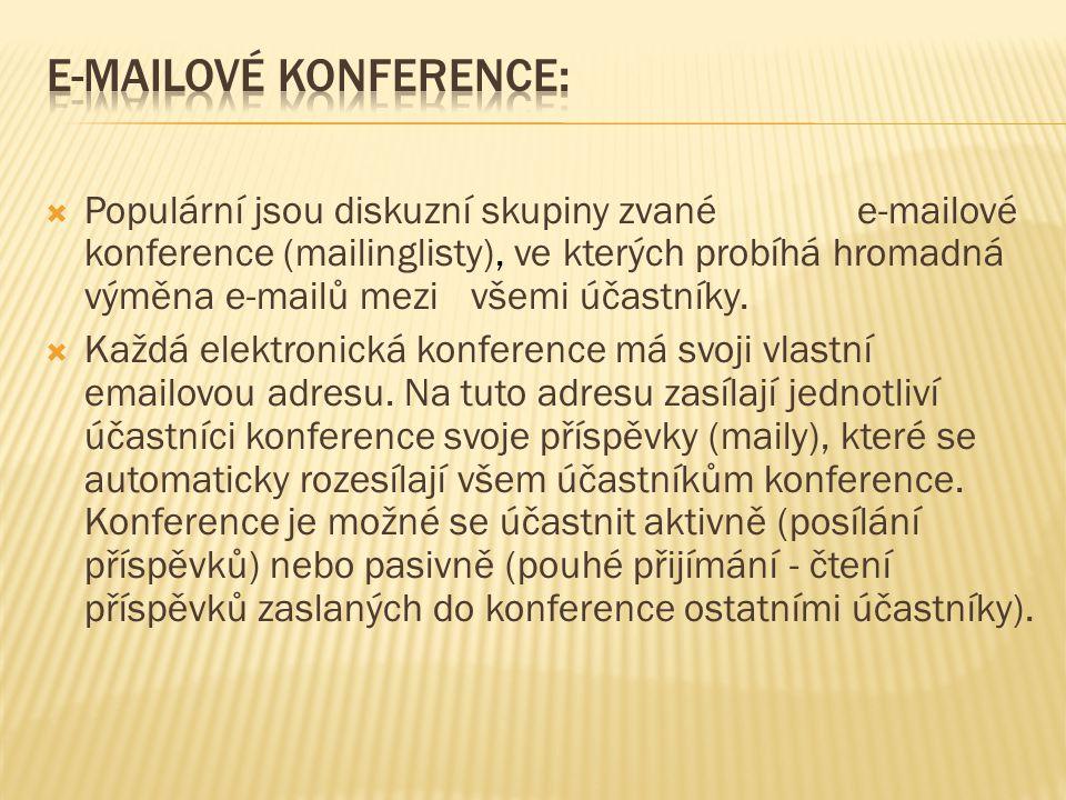 E-mailové konference: