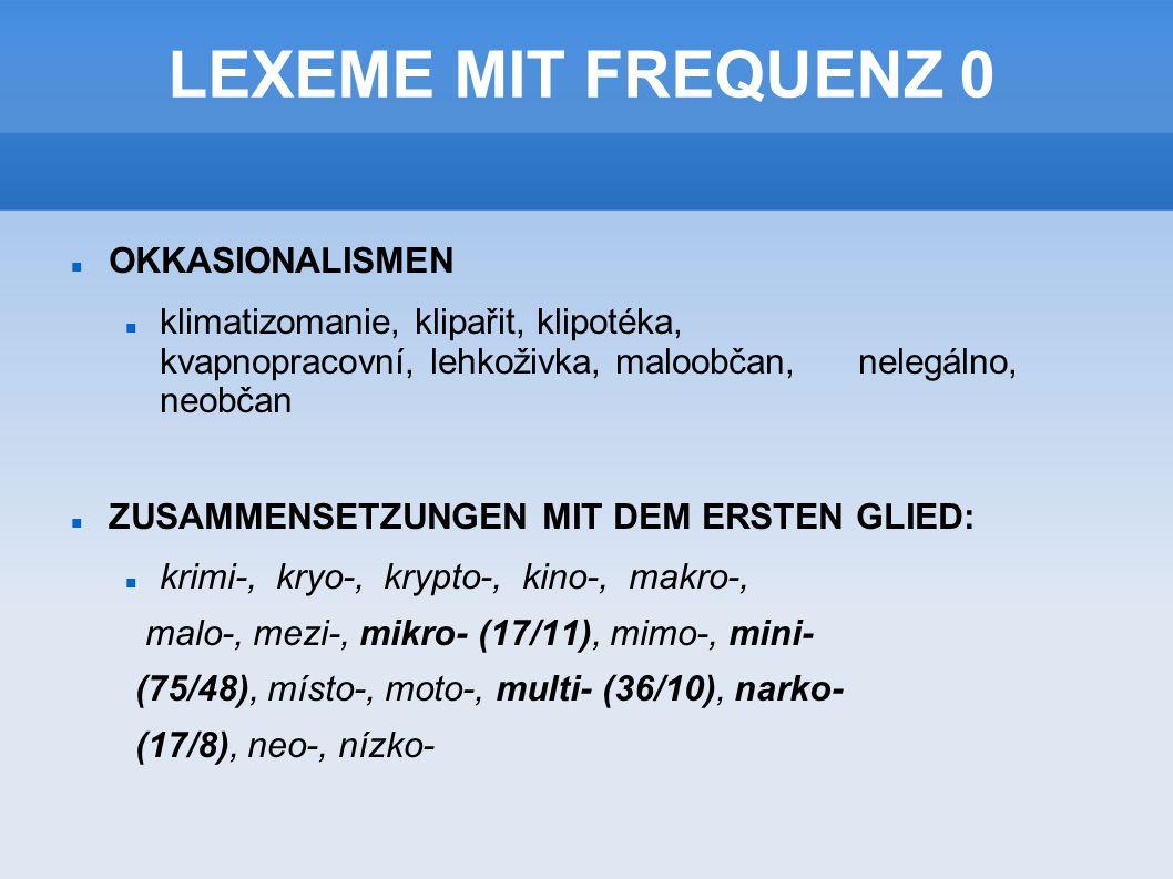 LEXEME MIT FREQUENZ 0 OKKASIONALISMEN