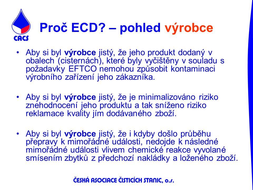 Proč ECD – pohled výrobce