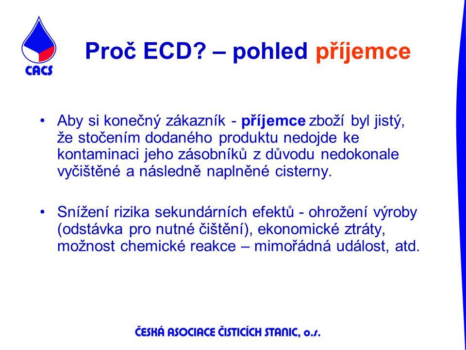 Proč ECD – pohled příjemce