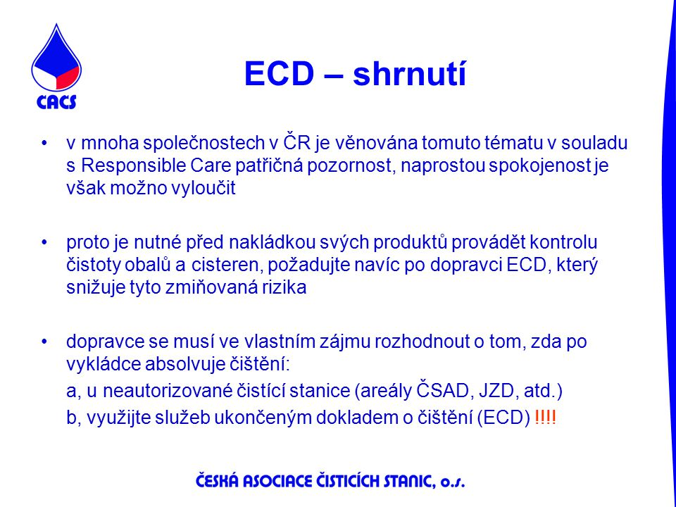 ECD – shrnutí