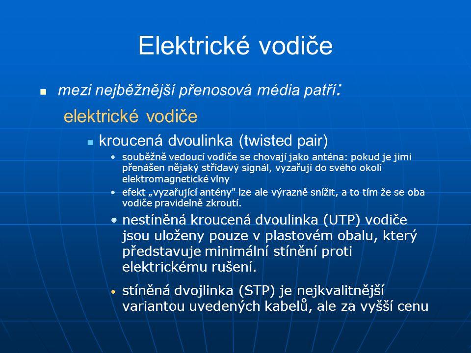 Elektrické vodiče elektrické vodiče