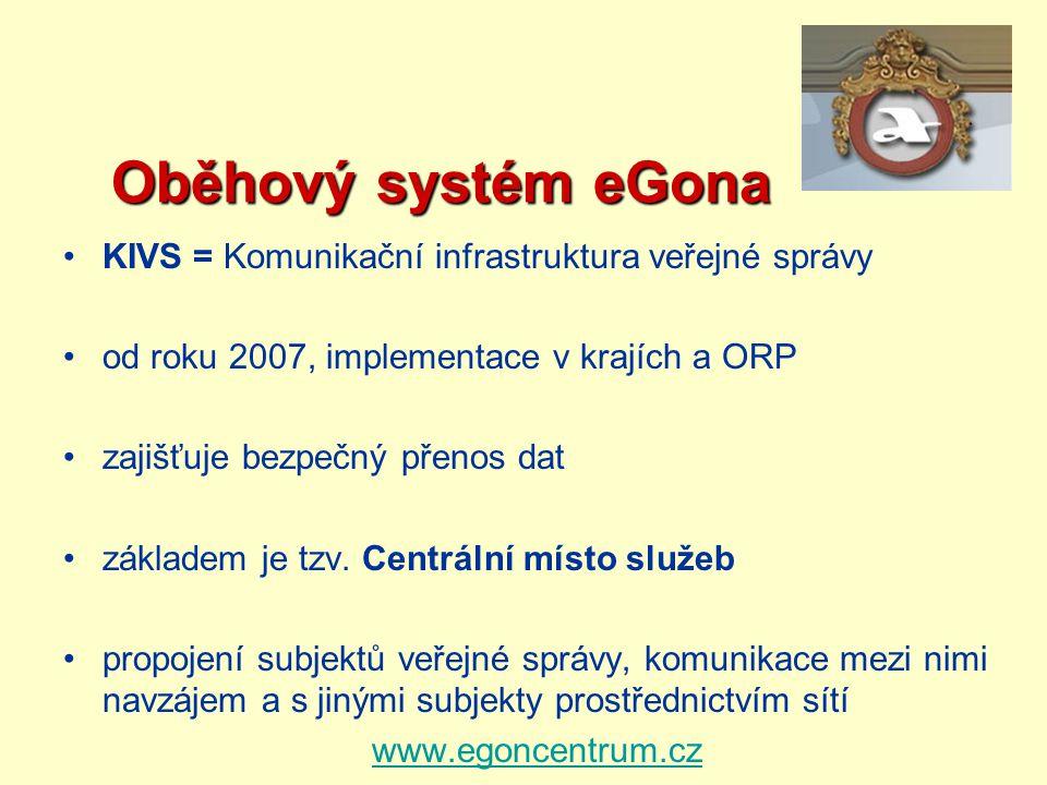 Oběhový systém eGona KIVS = Komunikační infrastruktura veřejné správy