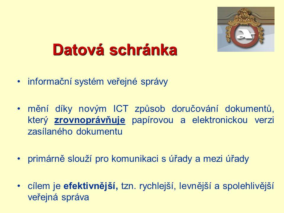 Datová schránka informační systém veřejné správy