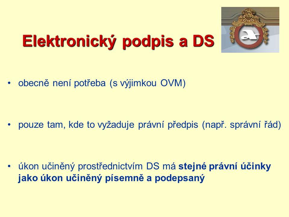 Elektronický podpis a DS