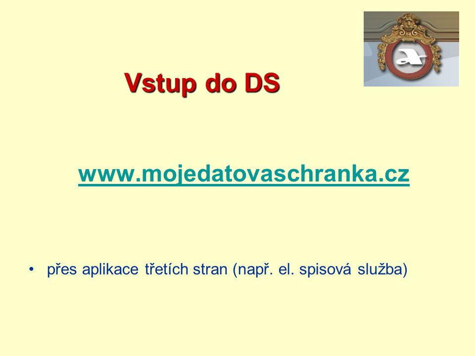 Vstup do DS www.mojedatovaschranka.cz