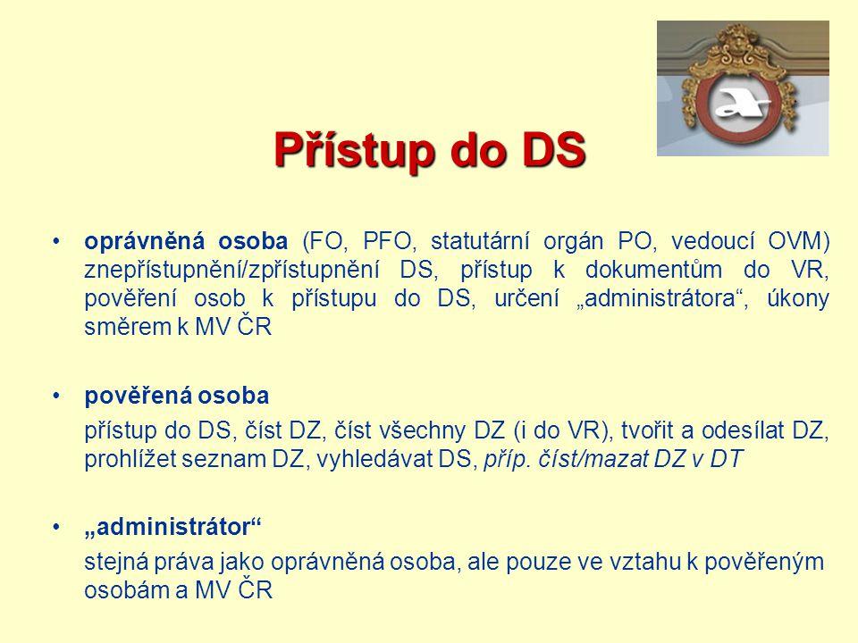 Přístup do DS