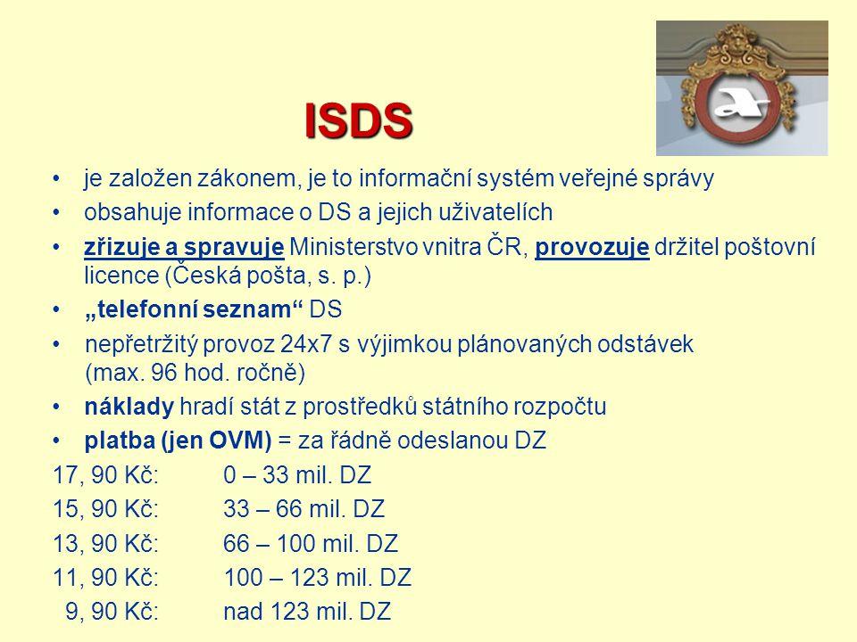 ISDS je založen zákonem, je to informační systém veřejné správy