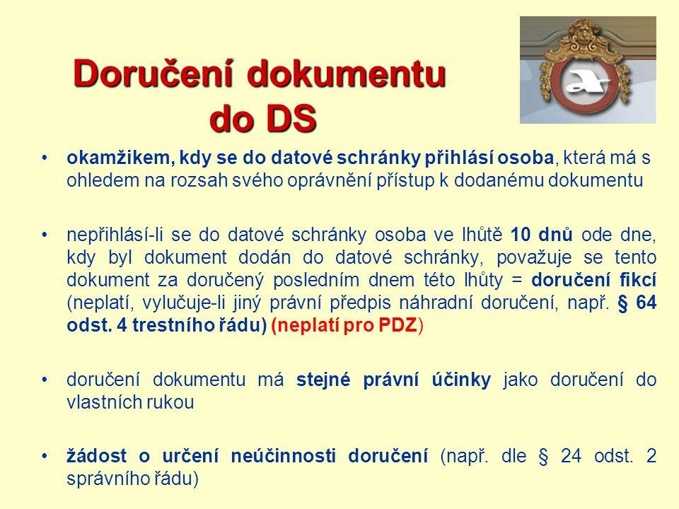 Doručení dokumentu do DS