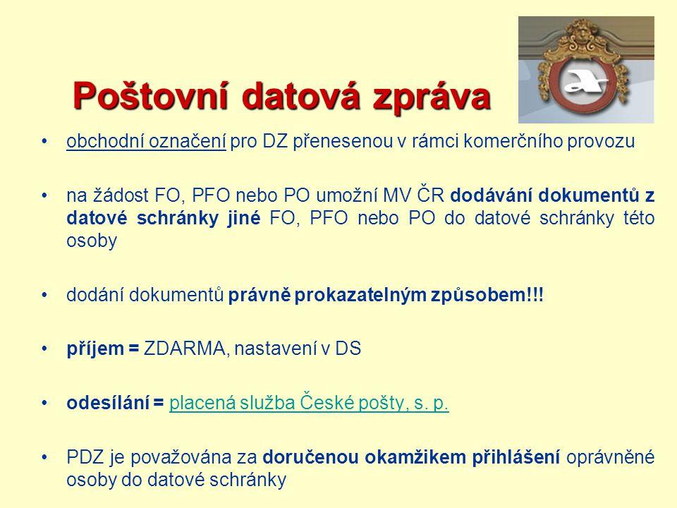 Poštovní datová zpráva
