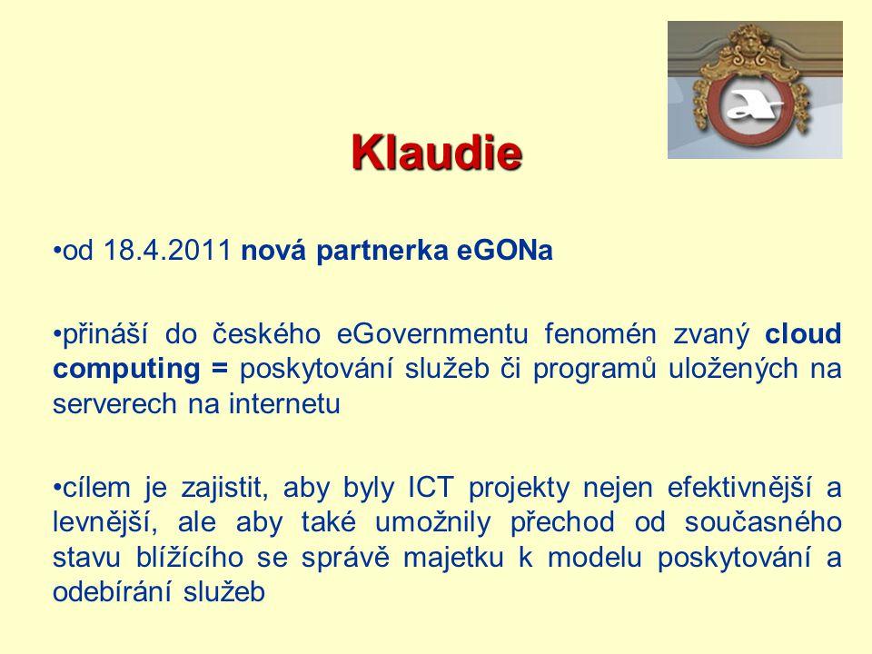 Klaudie od 18.4.2011 nová partnerka eGONa