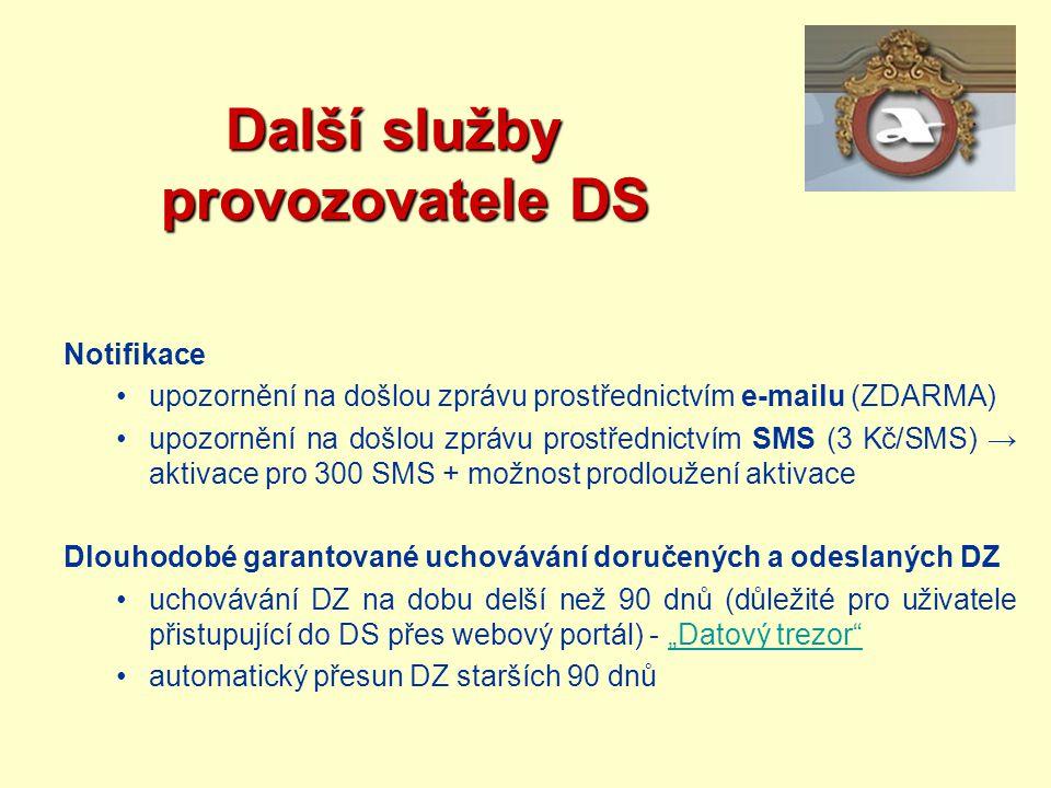 Další služby provozovatele DS