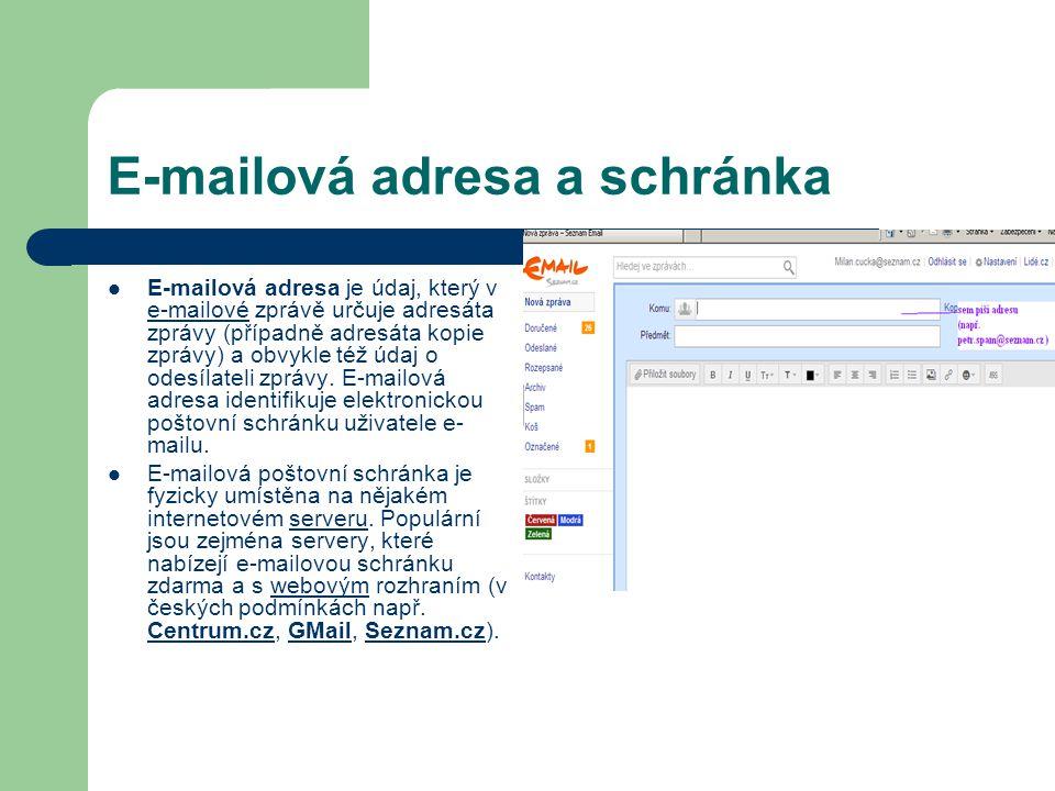 E-mailová adresa a schránka