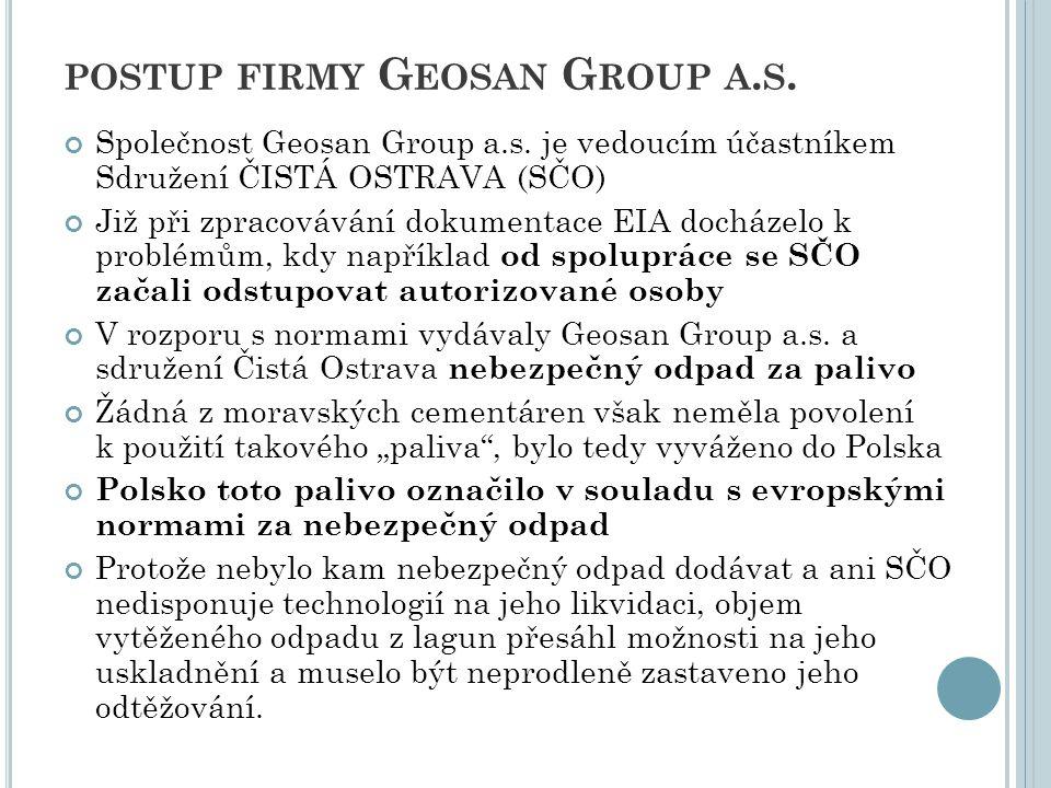 postup firmy Geosan Group a.s.