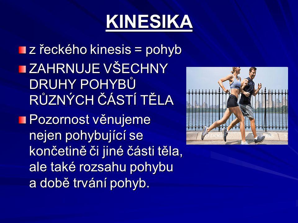 KINESIKA z řeckého kinesis = pohyb