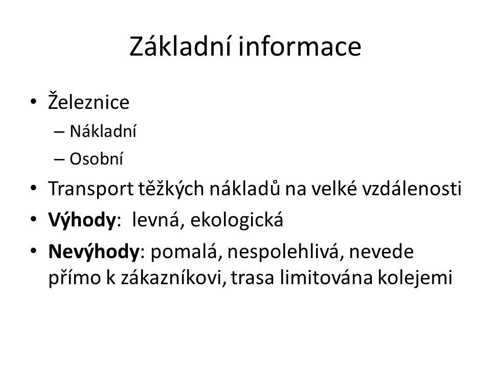 Základní informace Železnice
