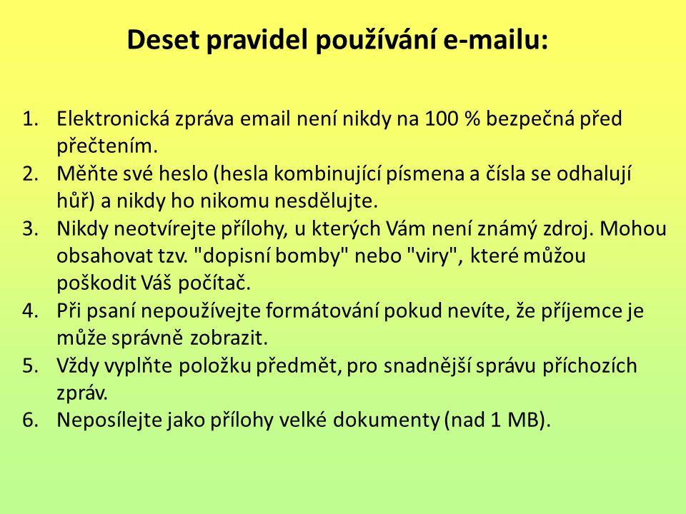 Deset pravidel používání e-mailu: