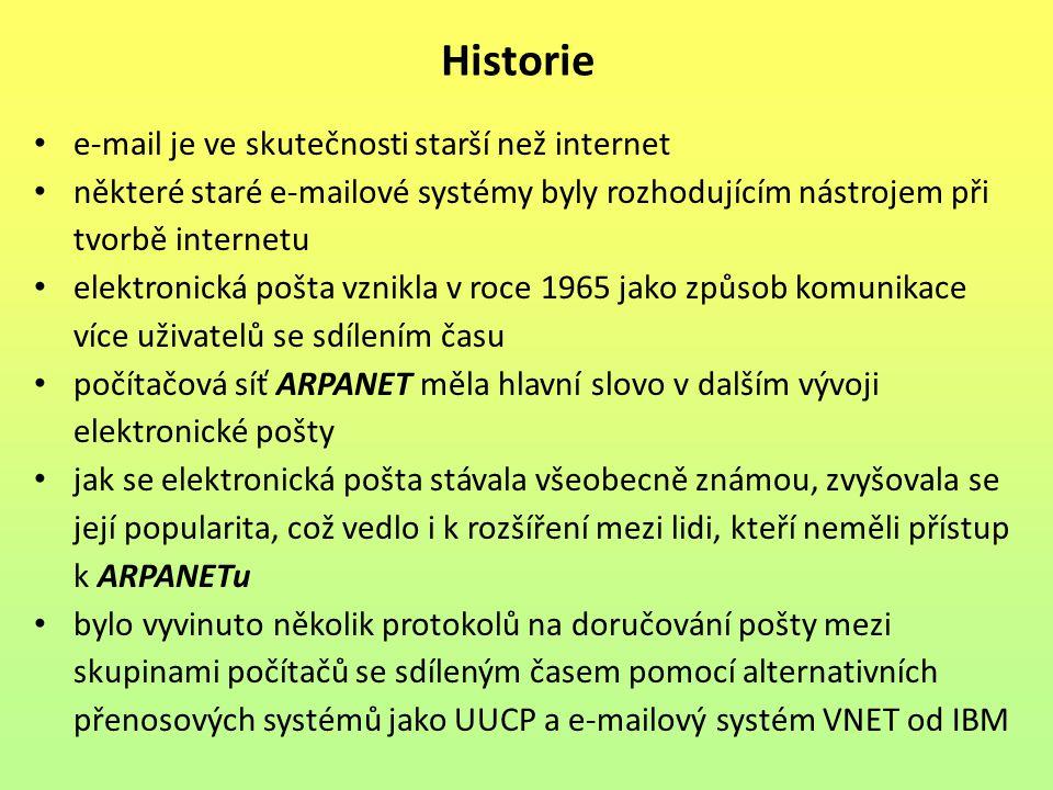 Historie e-mail je ve skutečnosti starší než internet