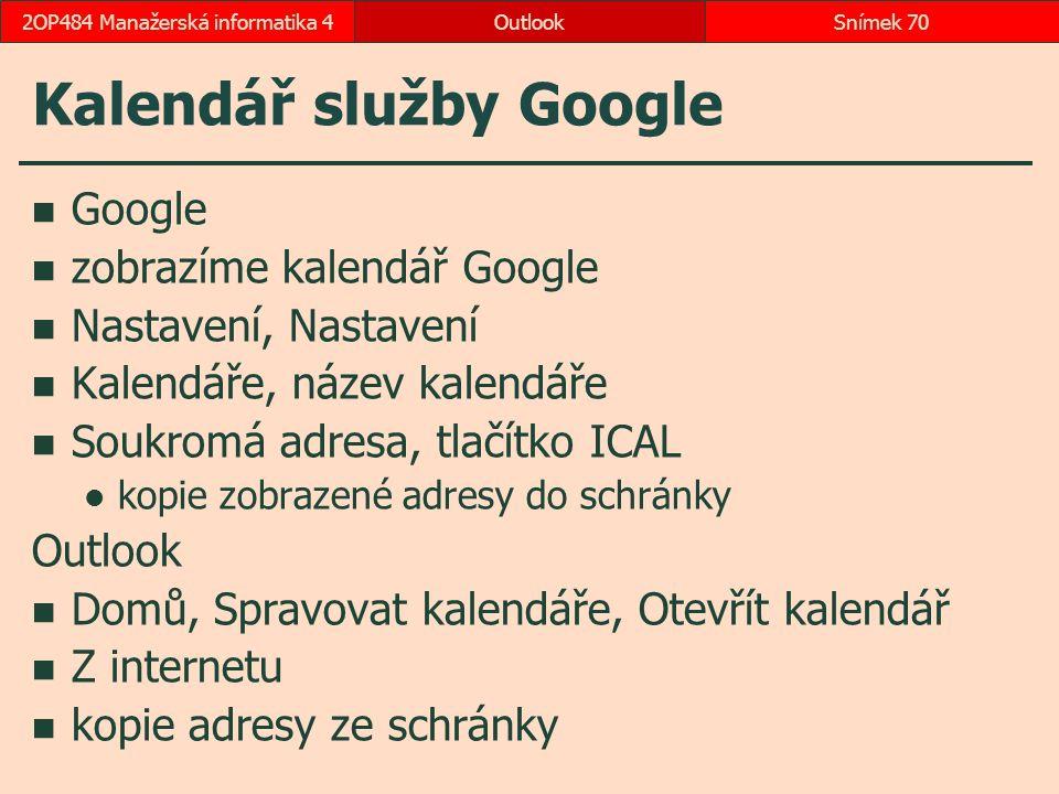 Kalendář služby Google
