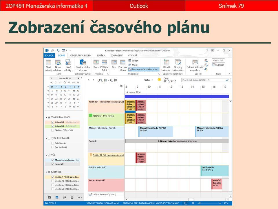 Zobrazení časového plánu