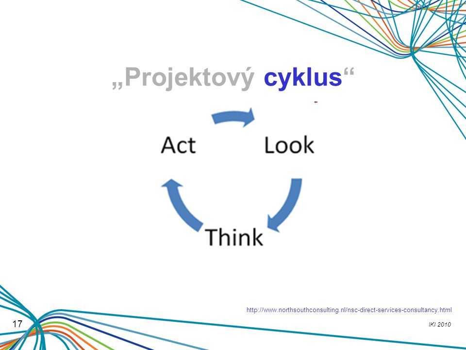 """""""Projektový cyklus http://www.northsouthconsulting.nl/nsc-direct-services-consultancy.html 17"""