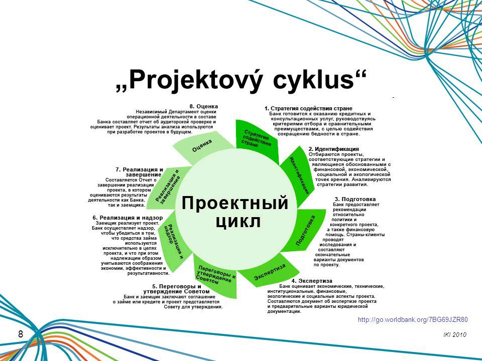 """Projektový cyklus http://go.worldbank.org/7BG69JZR80 8"