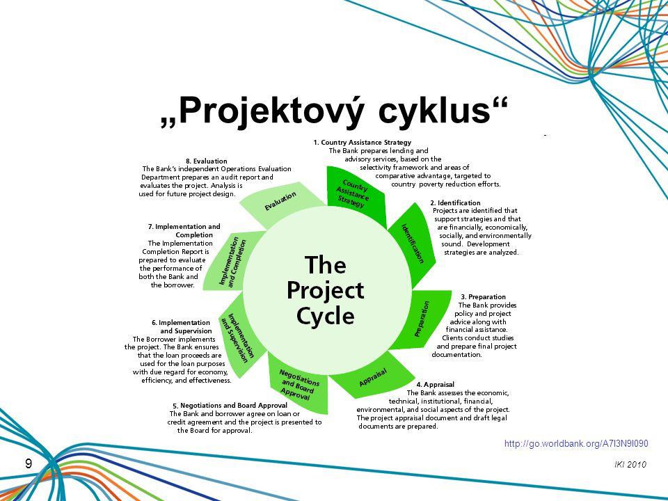 """""""Projektový cyklus http://go.worldbank.org/A7I3N9I090 9"""