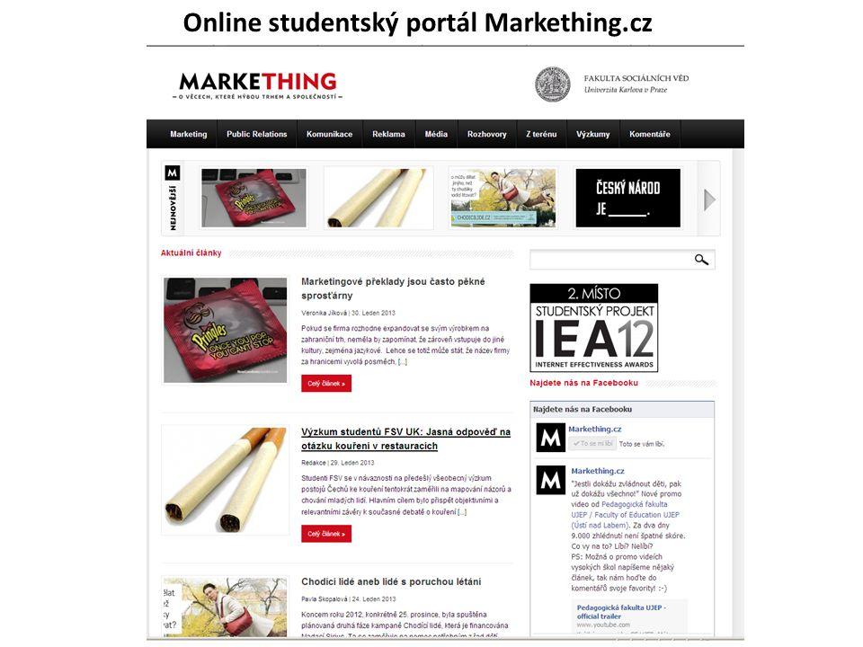 Online studentský portál Markething.cz