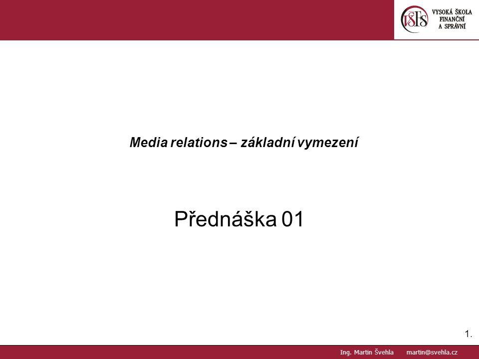 Media relations – základní vymezení