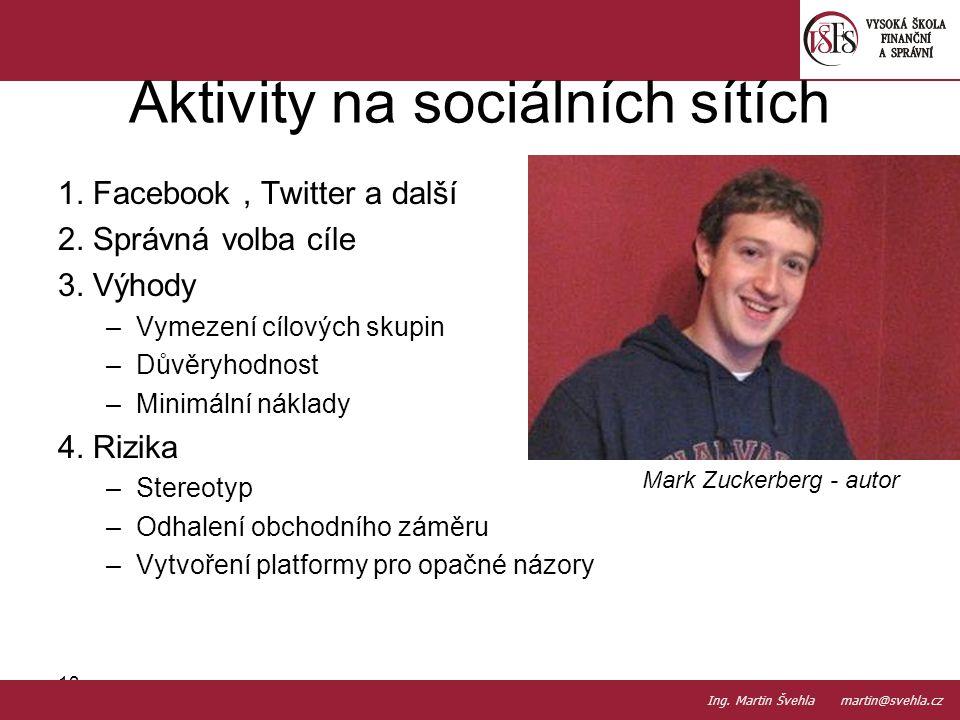 Aktivity na sociálních sítích